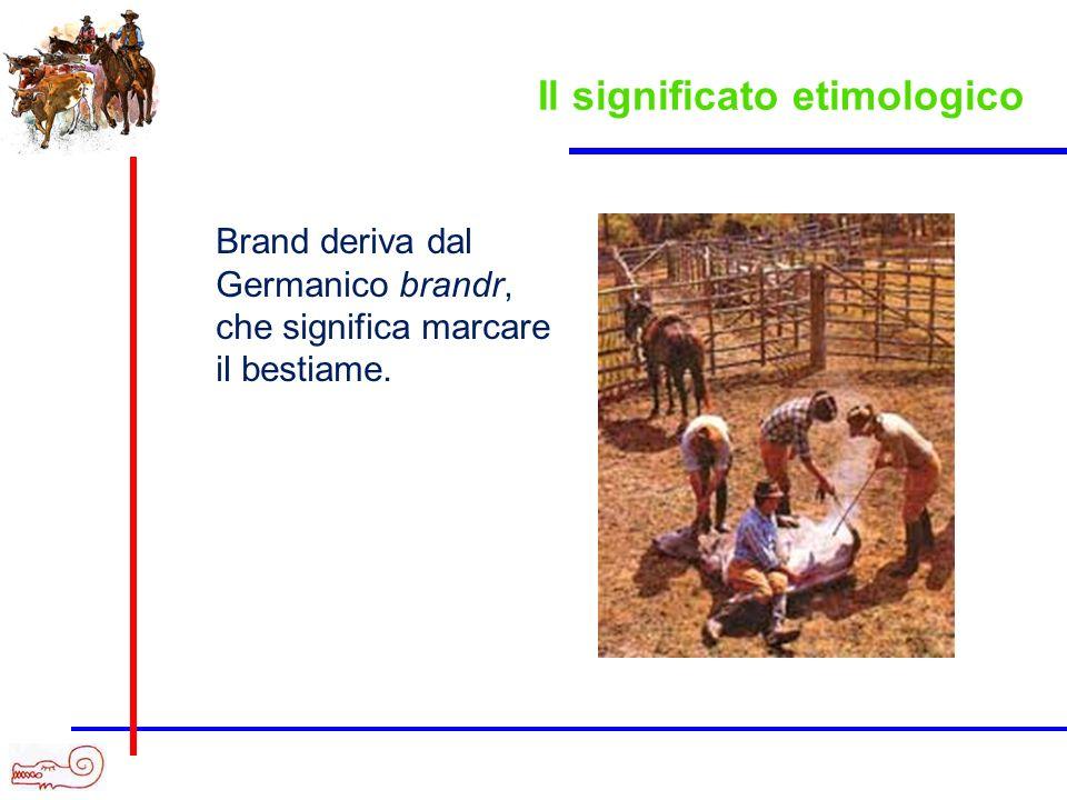 Brand deriva dal Germanico brandr, che significa marcare il bestiame. Il significato etimologico