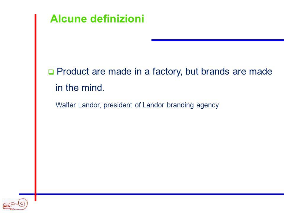 Alcune definizioni Il vero talento di un prodotto (leggi: marca) è il suo potere onirico. Il pubblico non compra una merce, ma la sua immagine. Jacque
