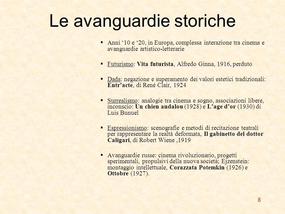 Le avanguardie storiche Anni 10 e 20, in Europa, complessa interazione tra cinema e avanguardie artistico-letterarie Futurismo: Vita futurista, Alfred