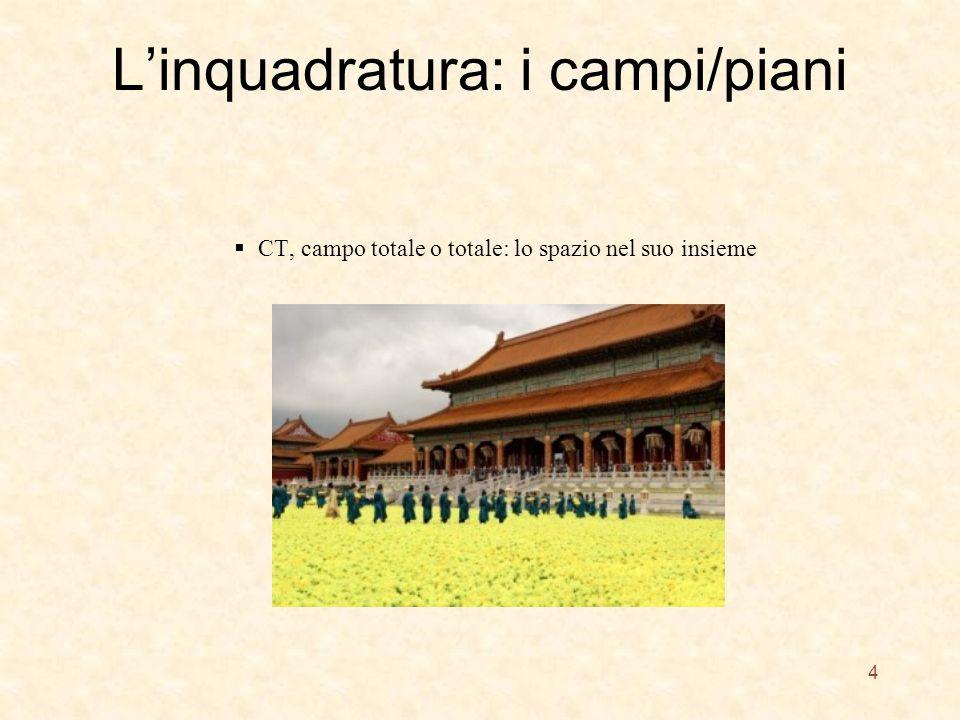 Linquadratura: i campi/piani CT, campo totale o totale: lo spazio nel suo insieme 4
