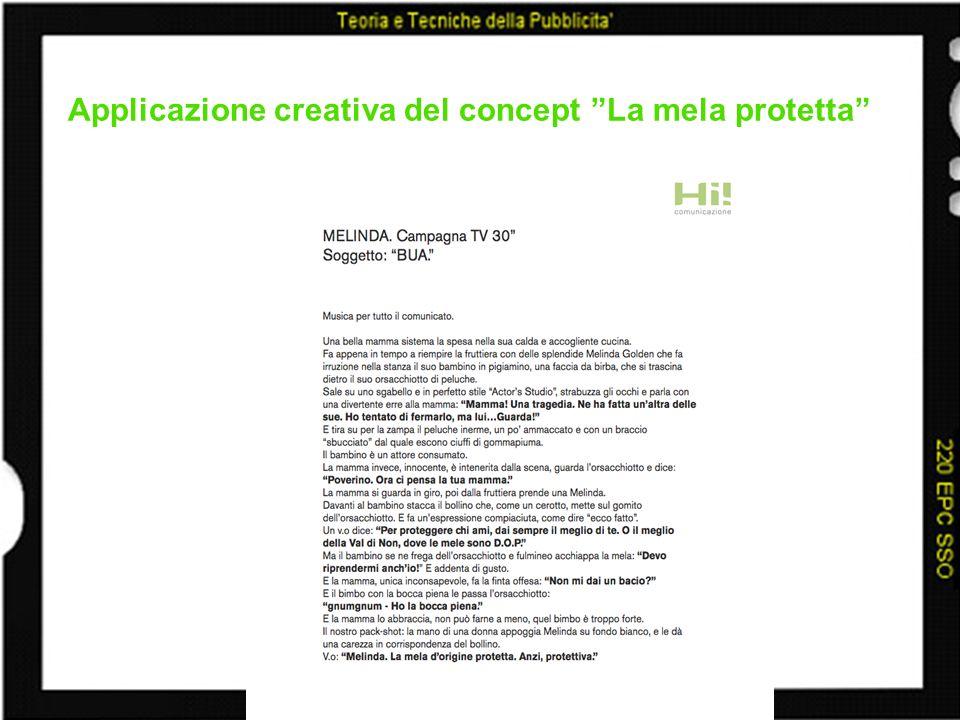 Applicazione creativa del concept La mela protetta