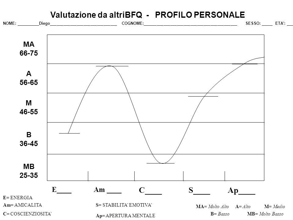 Valutazione da altri: sono risultati gli stessi punteggi a parte lenergia, dove risulto qui 45 e <55 e il lie Qui Il profilo non mostra falsificazioni in senso positivo o negativo.