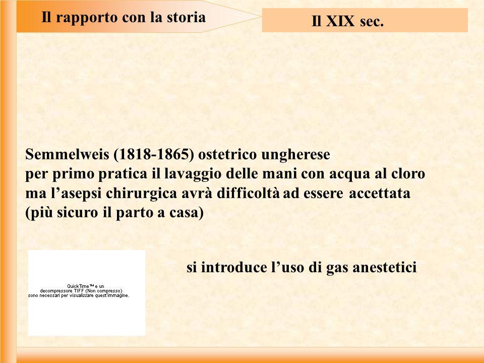 Il rapporto con la storia Il XIX sec.