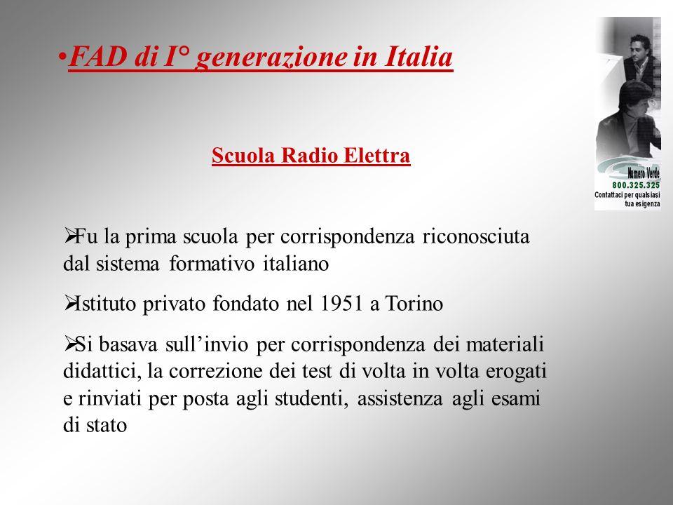 Scuola Radio Elettra Fu la prima scuola per corrispondenza riconosciuta dal sistema formativo italiano Istituto privato fondato nel 1951 a Torino Si b