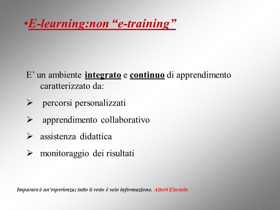 E un ambiente integrato e continuo di apprendimento caratterizzato da: percorsi personalizzati apprendimento collaborativo assistenza didattica monito