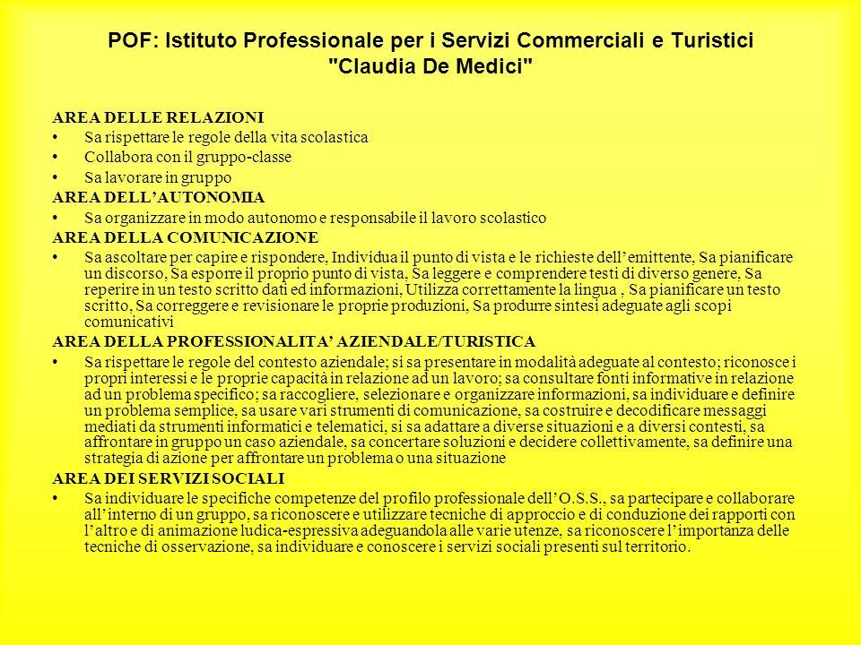 POF: Istituto Professionale per i Servizi Commerciali e Turistici