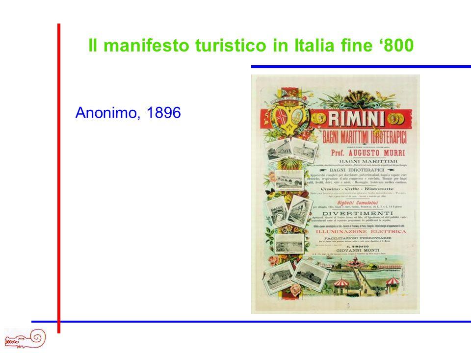 Il manifesto turistico in Italia fine 800 Anonimo, 1896