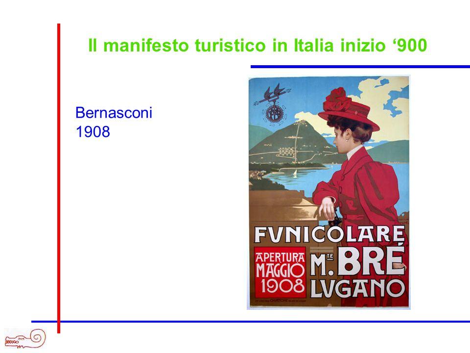 Il manifesto turistico in Italia inizio 900 Bernasconi 1908