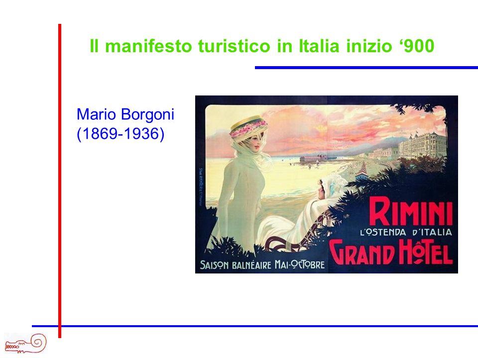 Il manifesto turistico in Italia inizio 900 Mario Borgoni (1869-1936)