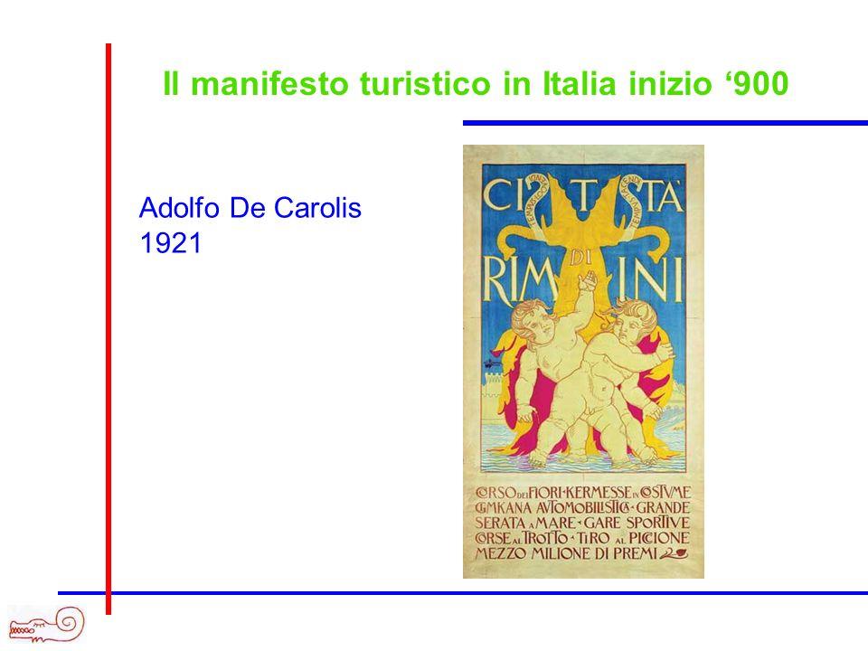 Il manifesto turistico in Italia inizio 900 Adolfo De Carolis 1921