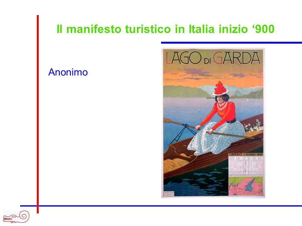 Il manifesto turistico in Italia inizio 900 Anonimo