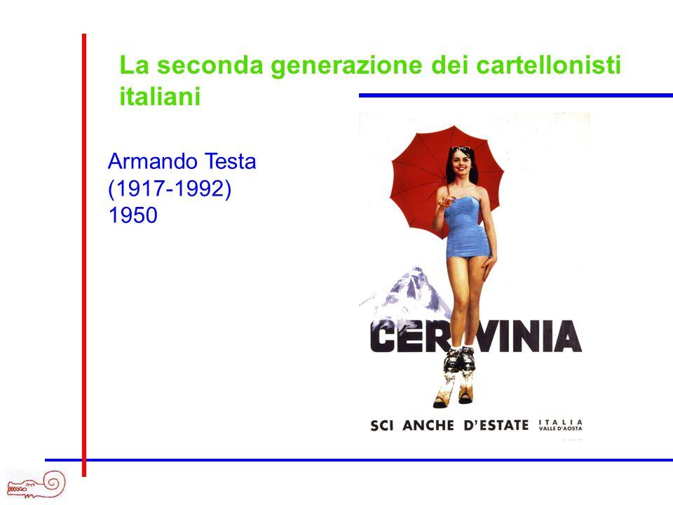 La seconda generazione dei cartellonisti italiani Armando Testa (1917-1992) 1950