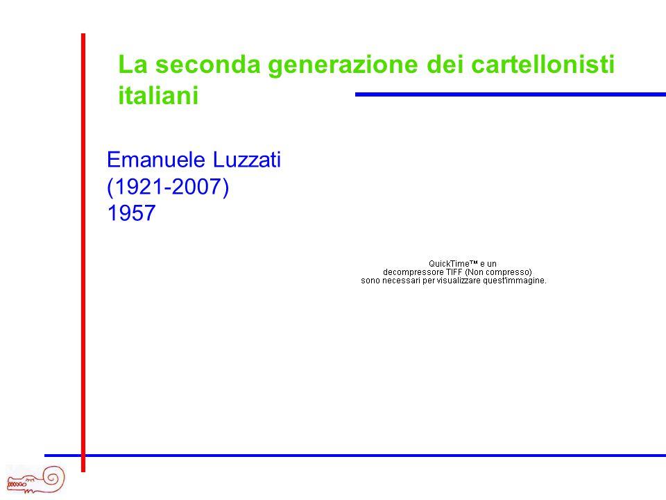 La seconda generazione dei cartellonisti italiani Emanuele Luzzati (1921-2007) 1957