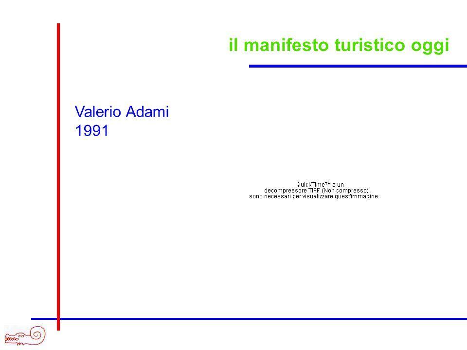 il manifesto turistico oggi Valerio Adami 1991