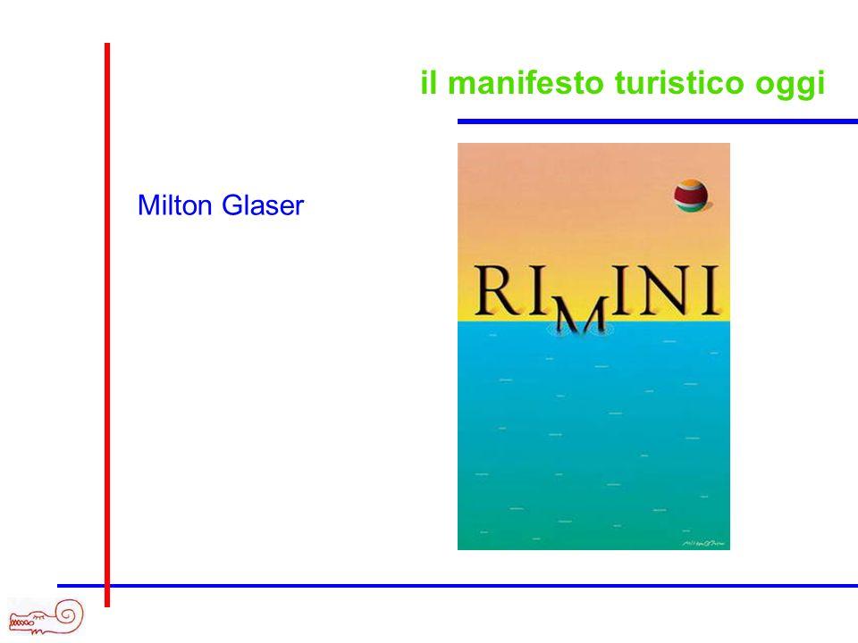 il manifesto turistico oggi Milton Glaser