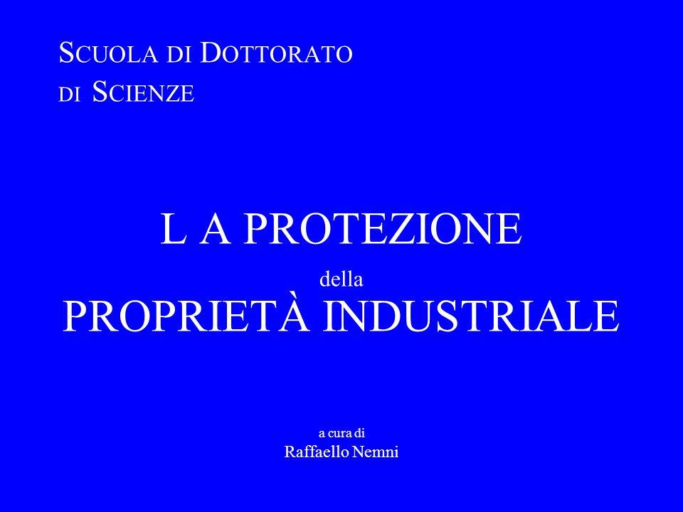 LE INNOVAZIONI Protezione Proprietà Industriale a.a. 2008/2009