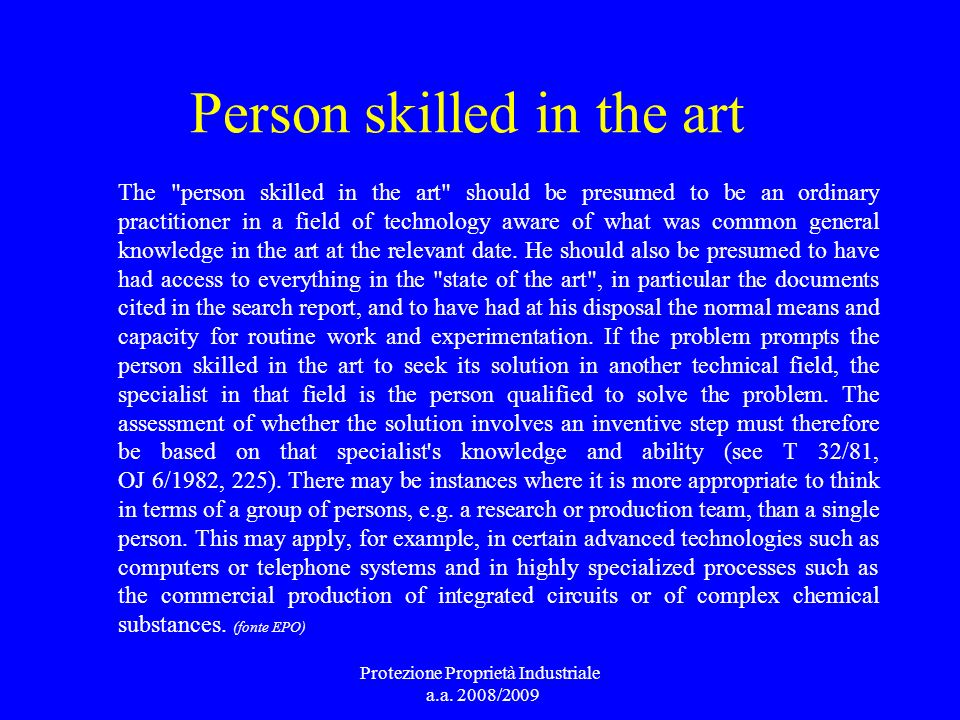 Person skilled in the art The