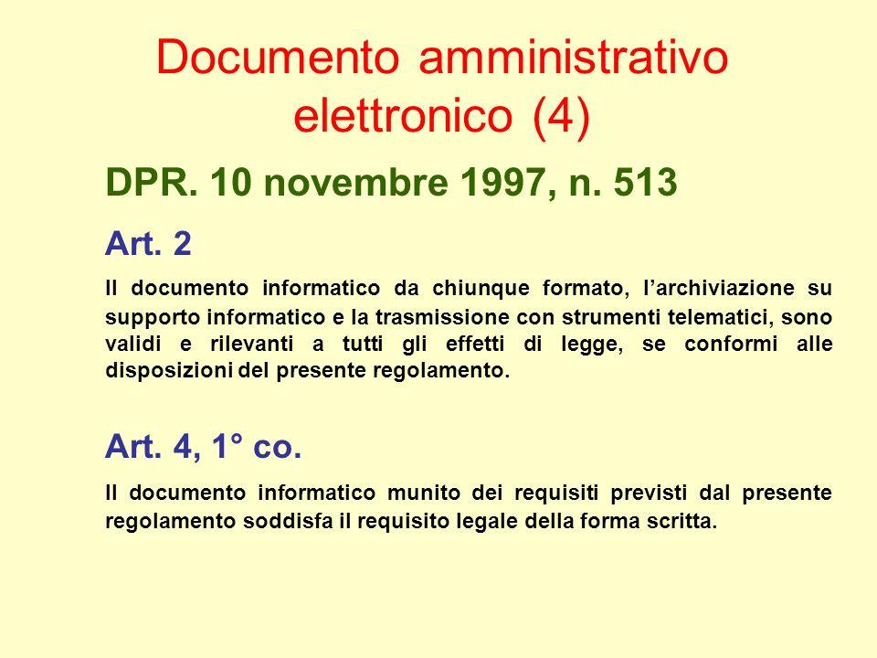 DPR. 10 novembre 1997, n. 513 Art.