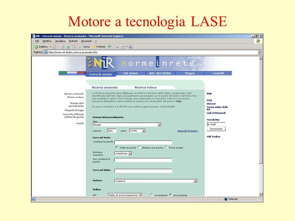 Motore a tecnologia LASE