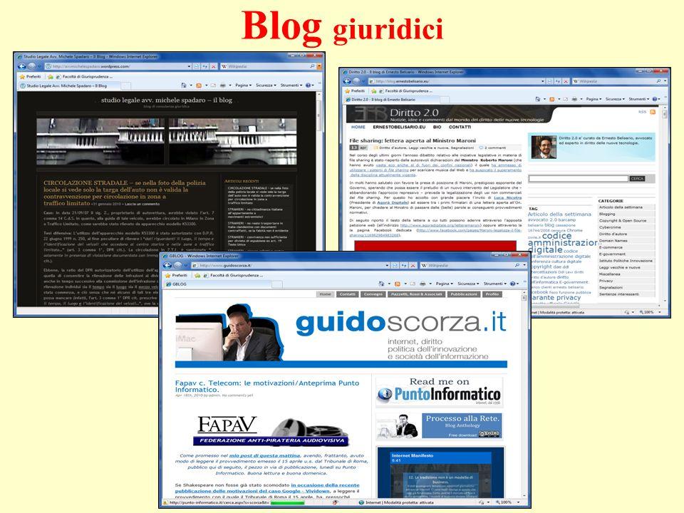 Blog giuridici