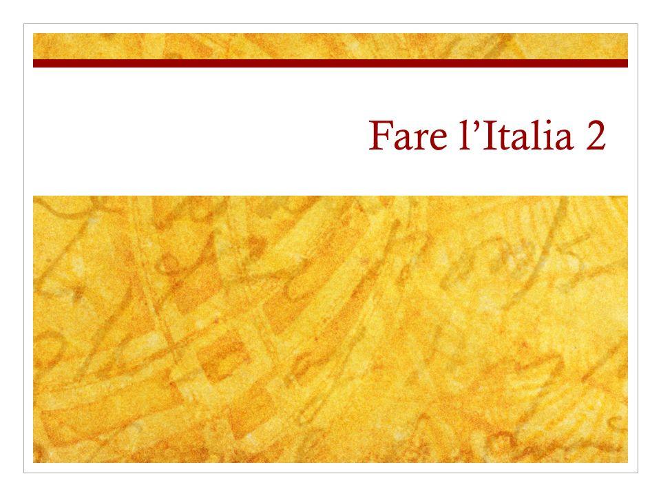 Fare lItalia 2