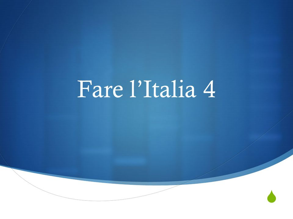 Fare lItalia 4