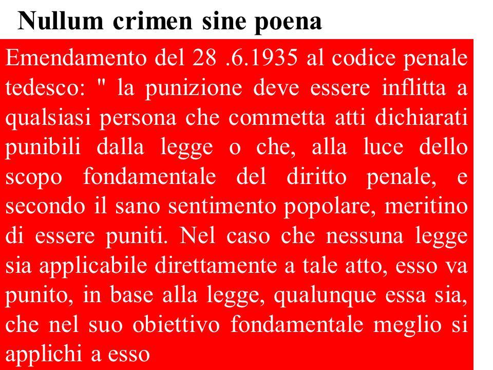 Emendamento del 28.6.1935 al codice penale tedesco: