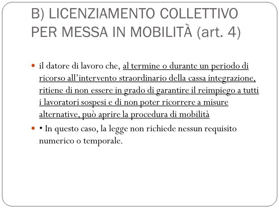 a) Licenziamento collettivo per riduzione di personale (art. 24) Si ha quando ricorrono i seguenti requisiti: Datori di lavoro che occupino più di qui