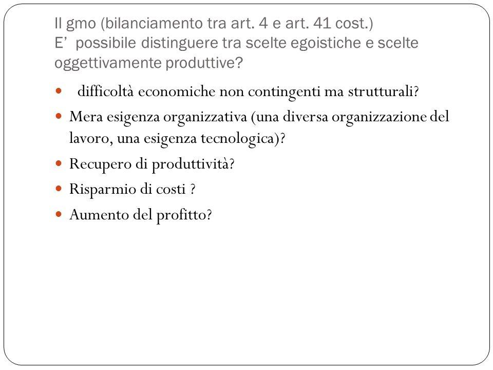 Il gmo (bilanciamento tra art.4 e art.