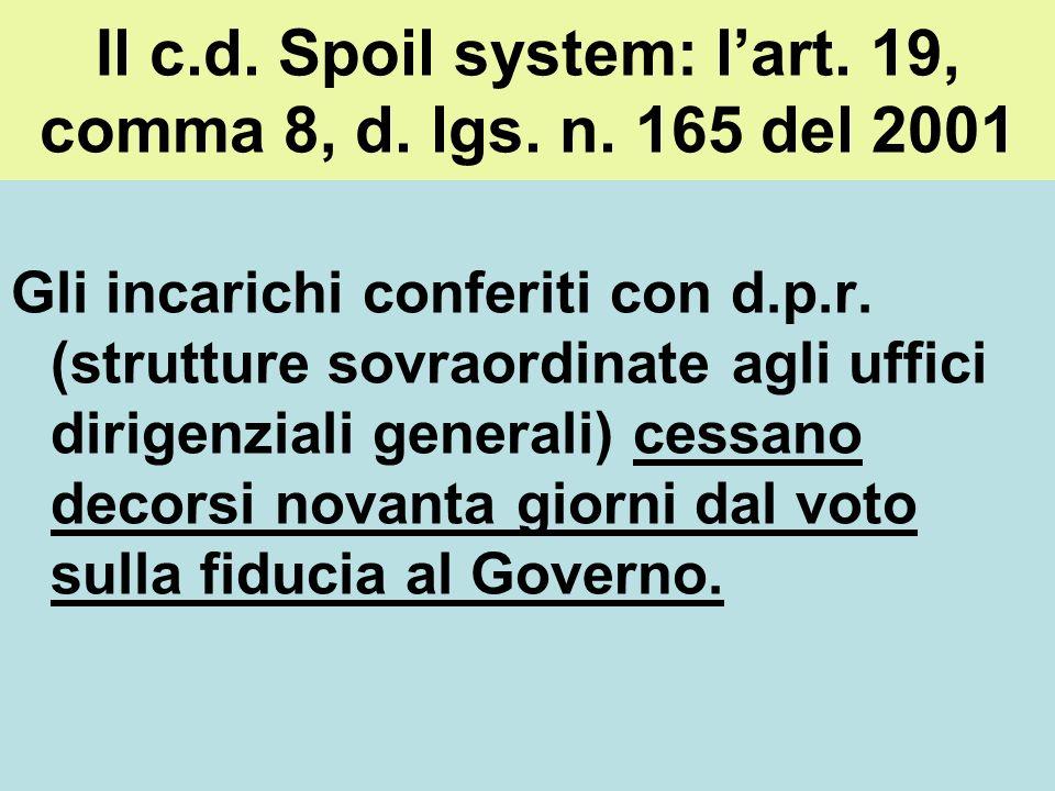 La mancata conferma dellincarico dirigenziale in assenza di valutazione negativa Art. 9, comma 32, l. n. 122/2010: A decorrere dalla data di entrata i