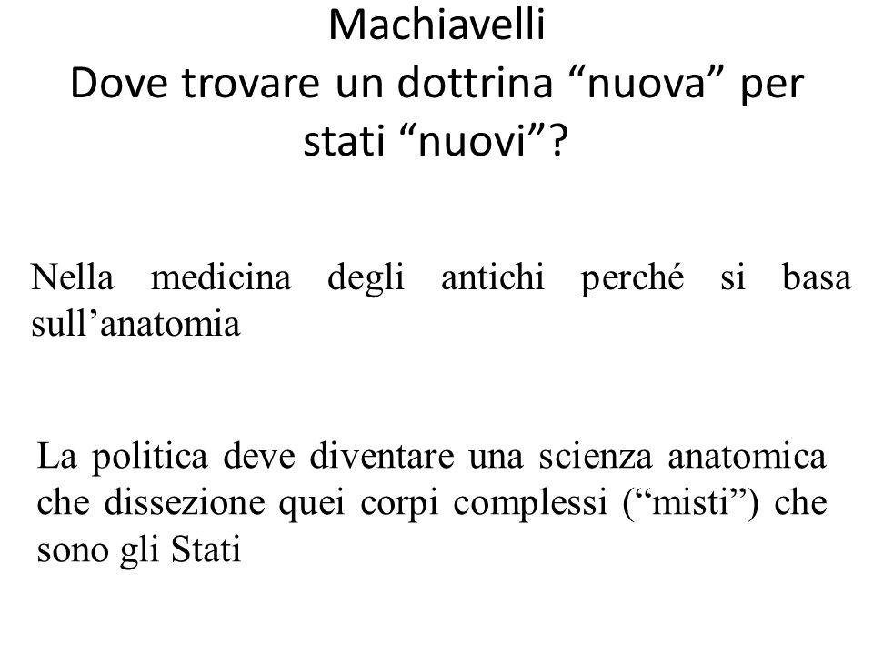 Machiavelli Dove trovare un dottrina nuova per stati nuovi.