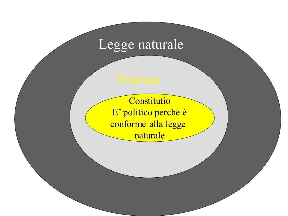 Constitutio E politico perché è conforme alla legge naturale Policum Legge naturale