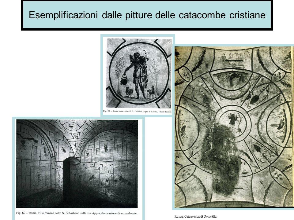 Esemplificazioni dalle pitture delle catacombe cristiane Il buon pastore Giona gettato alla balena