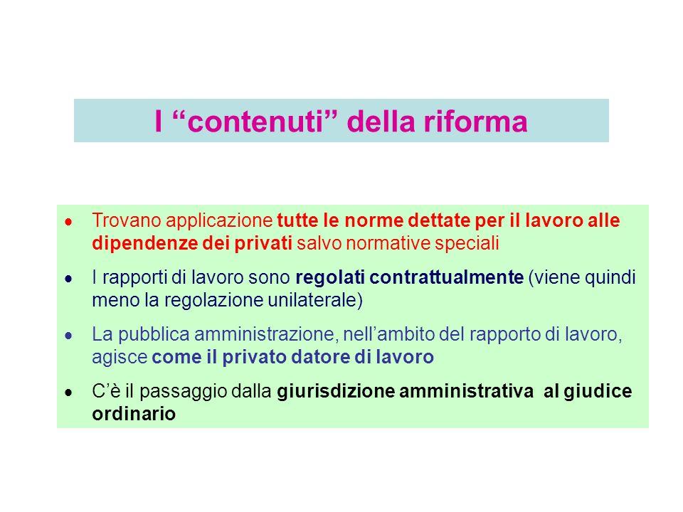 In linea generale, al personale in regime di diritto pubblico, si applica: 1) La disciplina legale settoriale; 2) Gi eventuali d.p.r.