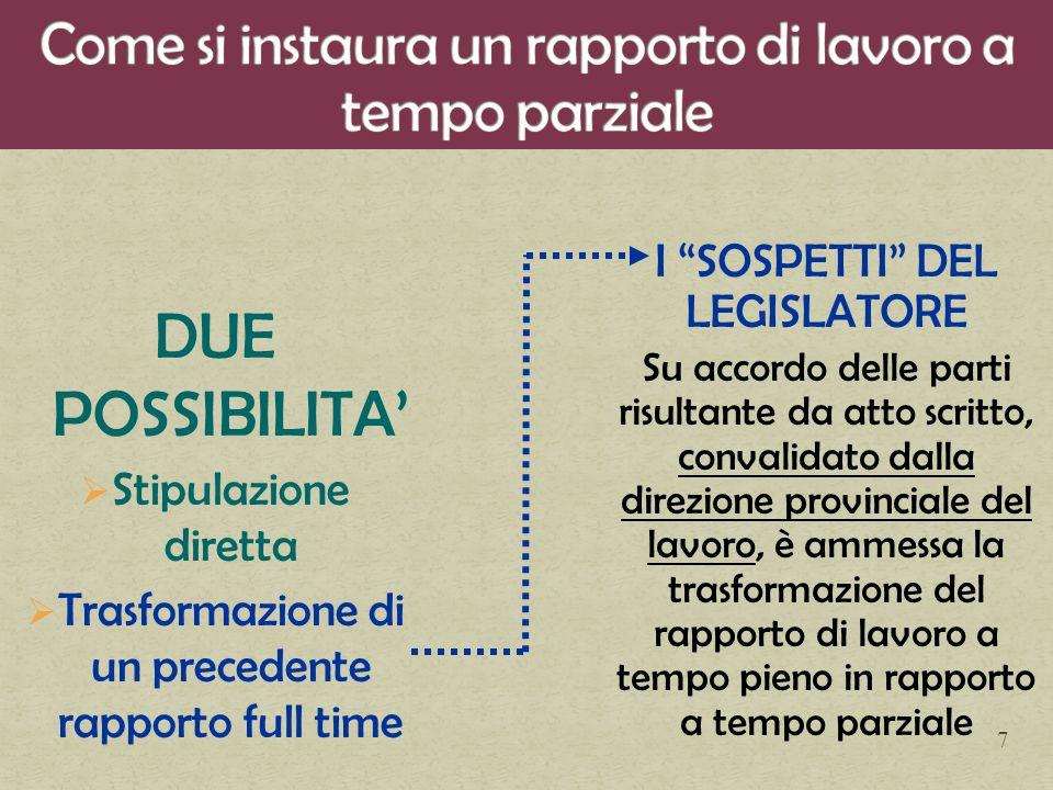 La trasformazione a tempo pieno di un contratto di lavoro a tempo parziale equivale a nuova assunzione La Corte dei conti, sezione regionale di controllo per il Piemonte, con riferimento alla disciplina normativa introdotta dall art.