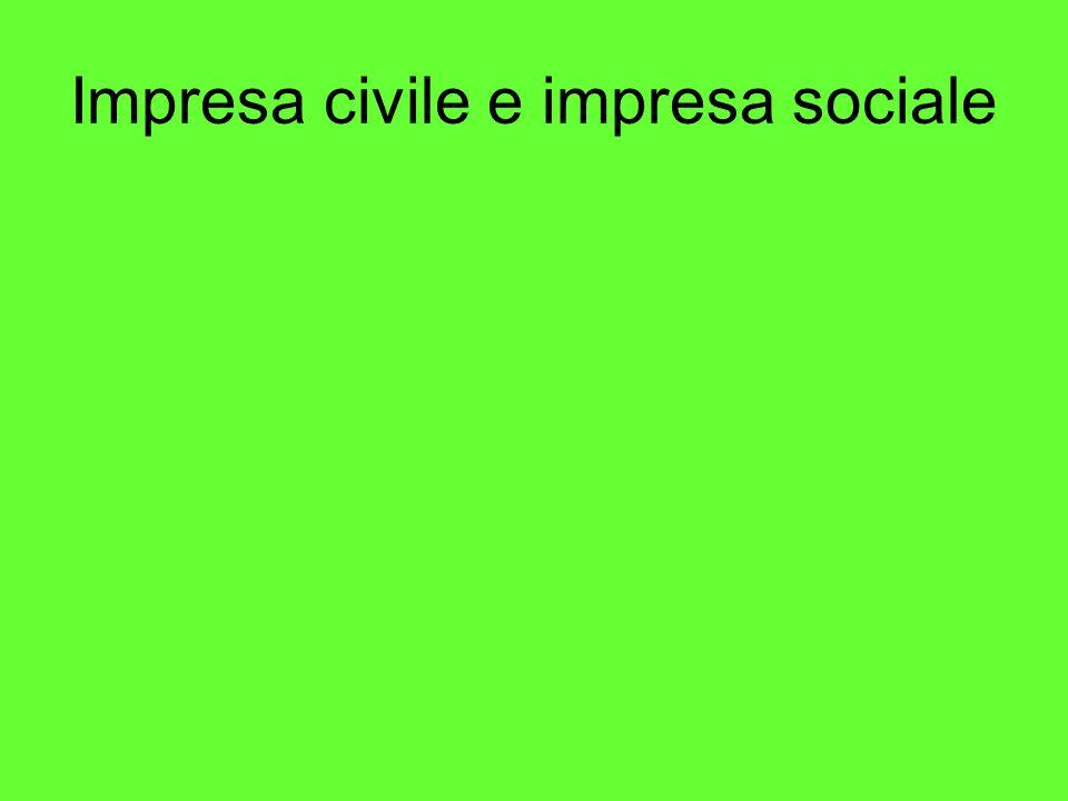 Impresa civile e impresa sociale
