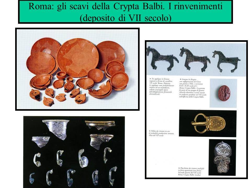 Roma: gli scavi della Crypta Balbi. I rinvenimenti (deposito di VII secolo)
