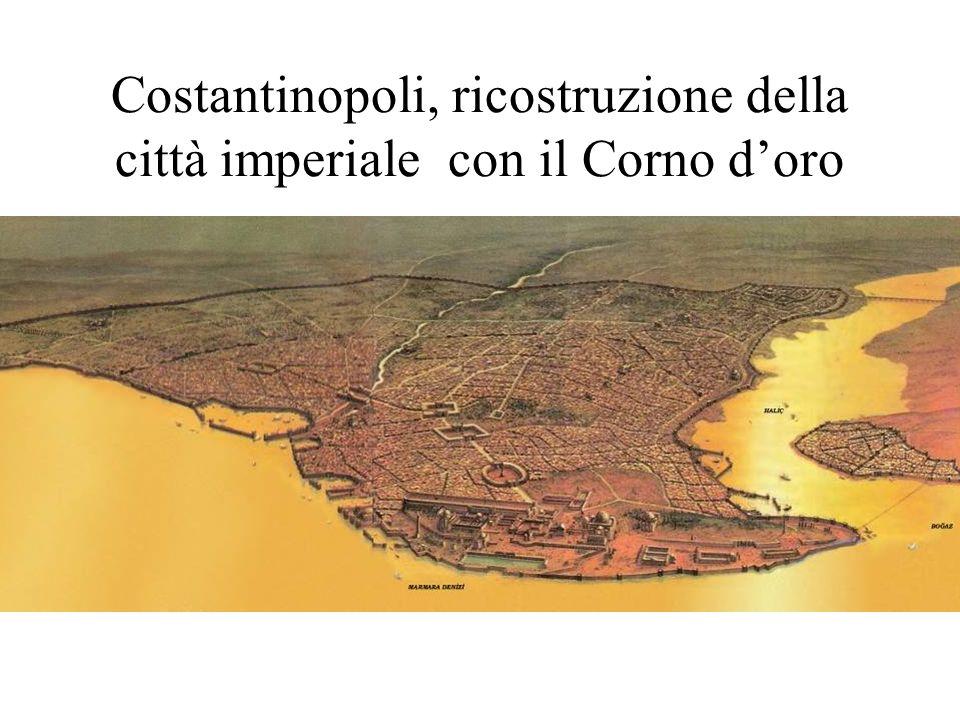 Costantinopoli, ricostruzione della città imperiale con il Corno doro