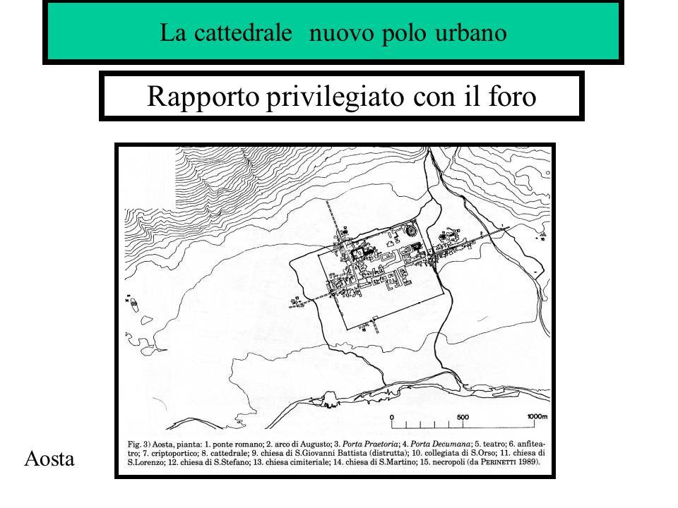 Rapporto privilegiato con il foro La cattedrale nuovo polo urbano Aosta