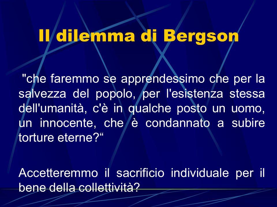 Il dilemma di Bergson