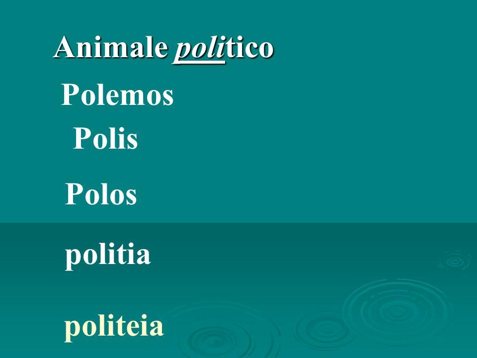 Animale politico Polemos Polis Polos politia politeia