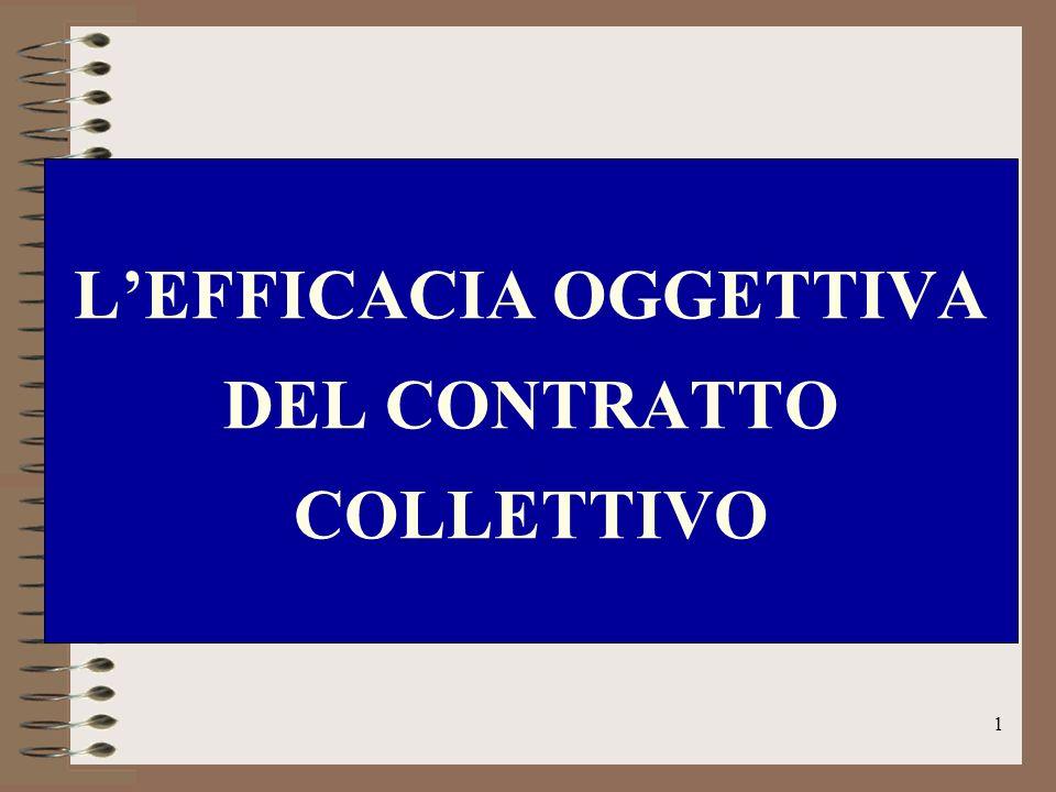 1 LEFFICACIA OGGETTIVA DEL CONTRATTO COLLETTIVO