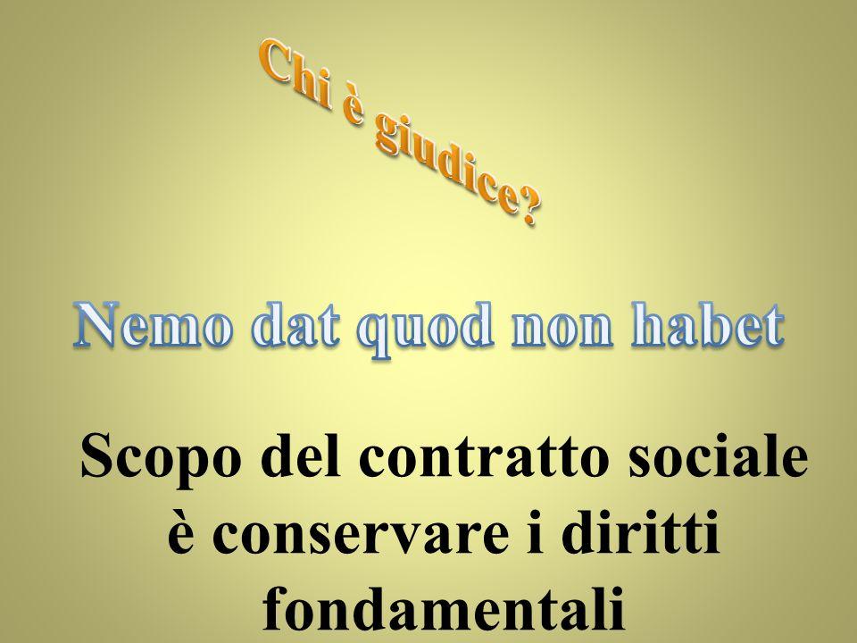 Diritto alla proprietà Diritto alla vita Diritto alla libertà Società naturale Società civile Diritto alla vita diritto alla vita diritto alla libertà + Certezza dei rapporti