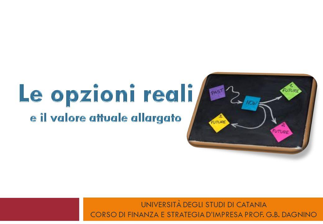 UNIVERSITÀ DEGLI STUDI DI CATANIA CORSO DI FINANZA E STRATEGIA DIMPRESA PROF. G.B. DAGNINO