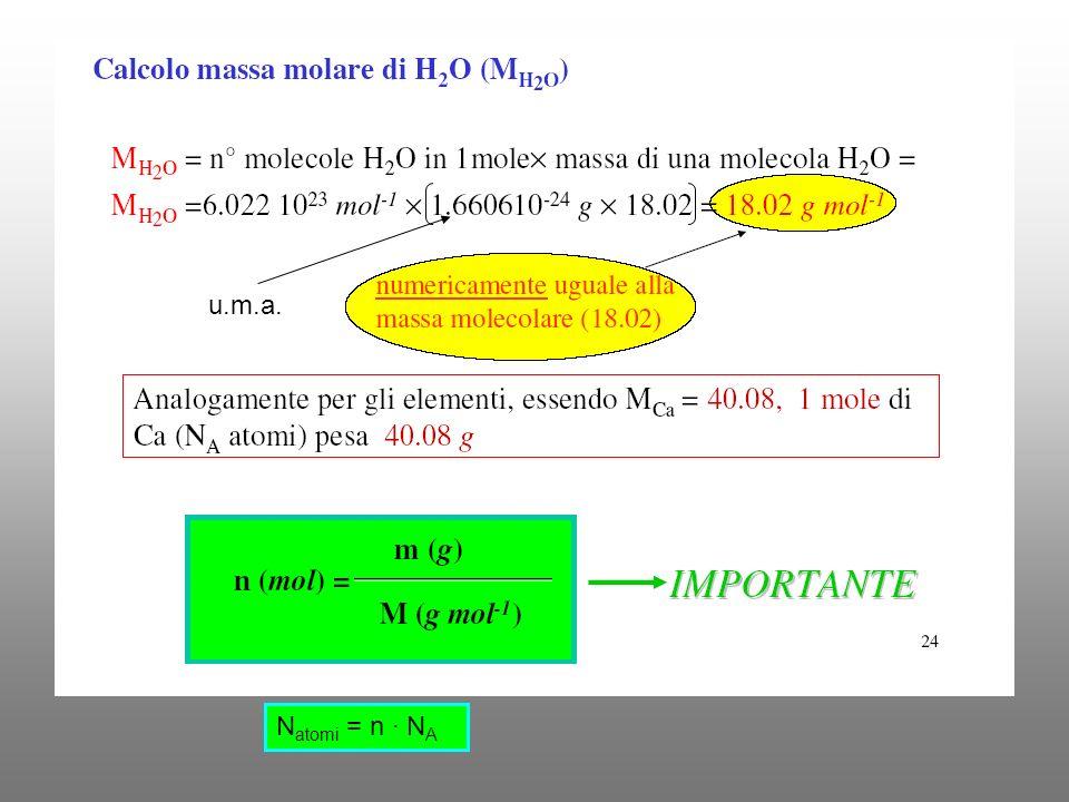 N atomi = n · N A u.m.a.
