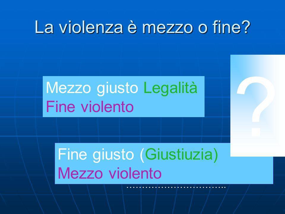 La violenza può diventare non-violenza attraverso il diritto.