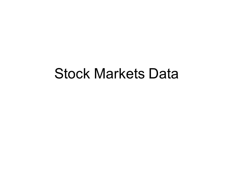Stock Markets Data