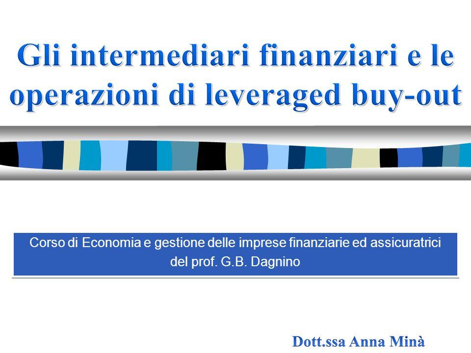 Corso di Economia e gestione delle imprese finanziarie ed assicuratrici del prof. G.B. Dagnino Corso di Economia e gestione delle imprese finanziarie
