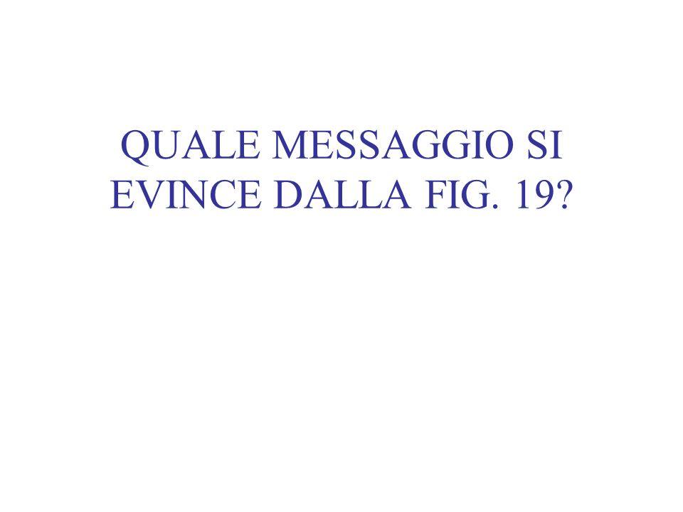 QUALE MESSAGGIO SI EVINCE DALLA FIG. 19?