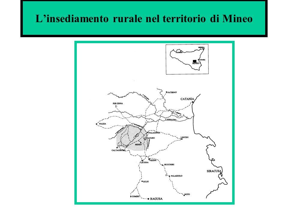 Linsediamento rurale nel territorio di Mineo